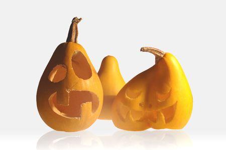 Funny calabazas de Halloween  Foto de archivo - 1787822