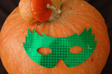 Masked Halloween pumpkin Stock Photo - 1875955
