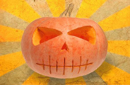 Grunge Halloween pumpkin Stock Photo - 1920684