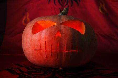 Grunge Halloween pumpkin photo