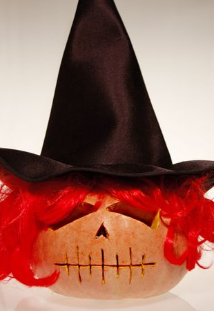 Witch pumpkin photo