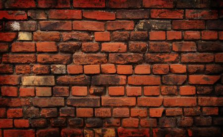 Old dirty brick wall. Stock Photo