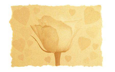 vintage love and Valentine card. photo