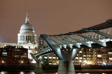St Pauls Cathedral in London at night photo