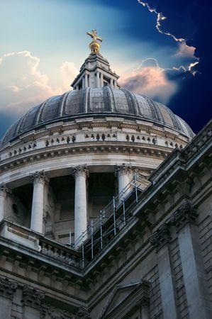 English landmark St Pauls Cathedral in London photo