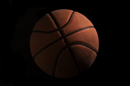 High detailed basketball on black background Stock Photo - 4450652