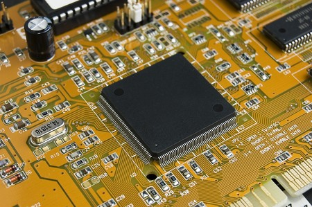 Close up of Computer Circuit Board Stock Photo - 4549714