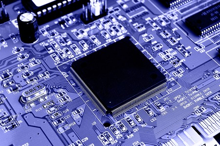 Close up of Computer Circuit Board photo