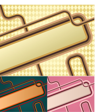 Retro banner. Vector image in vintage style Vector