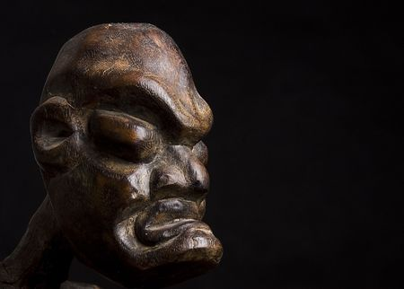 African mask over black background with copy space Stock Photo - 4839875