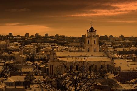 Panorama of Vilnius - capital of Lithuania photo
