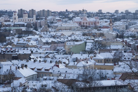 oldtown: Panorama of Vilnius - capital of Lithuania  Stock Photo