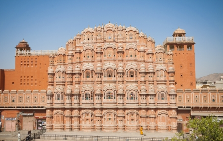 Hawa Mahal, the Palace of Winds in Jaipur, Rajasthan, India   Stock Photo