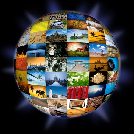 Abstract photography globe photo