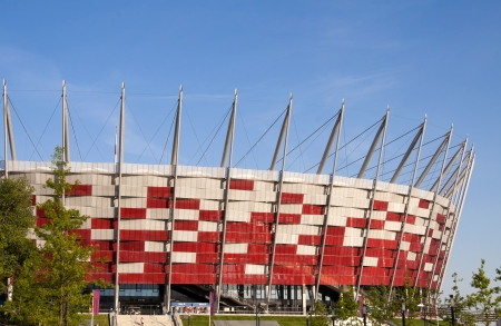 WARSAW, POLAND - JUNE 16: National Stadium on June 16, 2012 in Warsaw, Poland. The stadium is one of the venues for the UEFA Euro 2012 hosted by Poland and Ukraine.