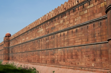mogul: Famous Red Fort - Lal Qilah, in Delhi, India