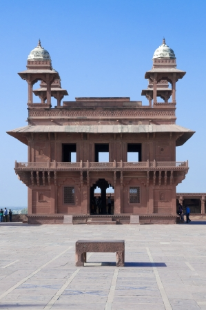 uttar: Fatehpur Sikri in Agra district, Uttar Pradesh, India. It was built by the great Mughal emperor, Akbar beginning in 1570.