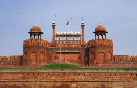 mogul: Famous Red Fort - Lal Qilah,in Delhi, India