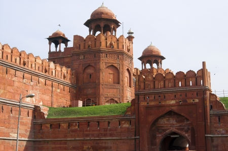 symbol british: Famous Red Fort - Lal Qilah,in Delhi, India