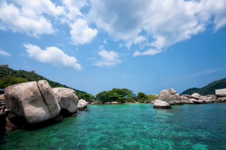 nangyuan: Idylic islands Ko Nang Yuan in Thailand Stock Photo