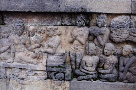 Borobudur, 9th-century Buddhist Temple in Magelang, Central Java photo