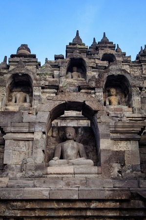 Borobudur, 9th-century Buddhist Temple in Magelang, Central Java photo
