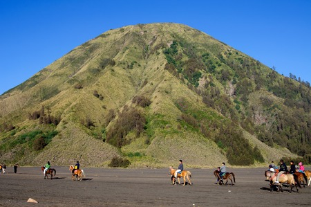 tengger: Bromo volcano,Tengger Semeru National Park, East Java, Indonesia Editorial