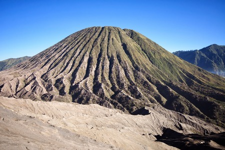 tengger: Bromo volcano,Tengger Semeru National Park, East Java, Indonesia Stock Photo