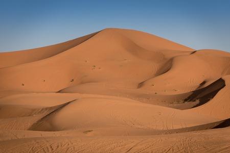 erg: Sand dunes in the Sahara Desert, Erg Chebbi, Merzouga, Morocco