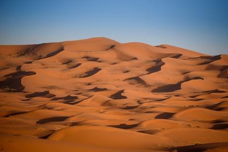 merzouga: Sand dunes in the Sahara Desert, Erg Chebbi, Merzouga, Morocco