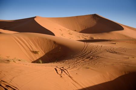 chebbi: Sand dunes in the Sahara Desert, Erg Chebbi, Merzouga, Morocco