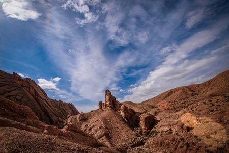 Travel destination called Monkey Fingers - Dades Canyon, Atlas Mountains, Morocco