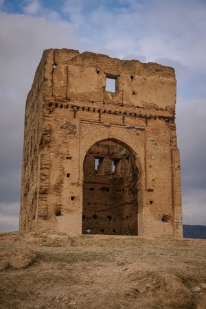 maroc: Ancient Marinid Tombs on the hill in Fez. Morocco Editorial