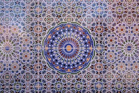 Traditional oriental Moroccan mosaic, Marrakesh, Morocco Editorial