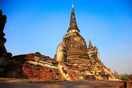 Wat Phra Sri San Phet - Ayuttaya, Thailand Stock Photo