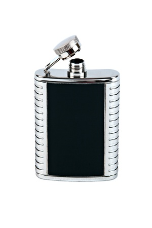 Isolated Hip-flask on a White Background Stock Photo