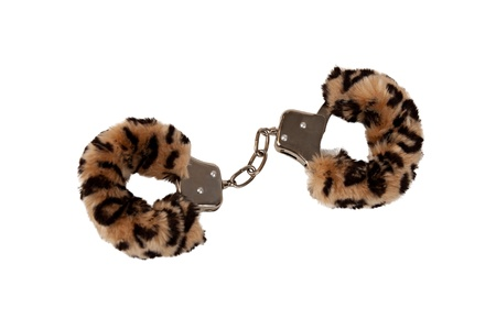 Toy Handcuffs Wrap with Leopard Pattern Fabric