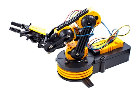 Black and Yellow Robotic Arm photo