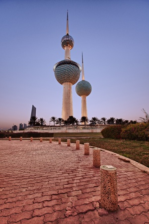 Kuwait Towers During Sunset