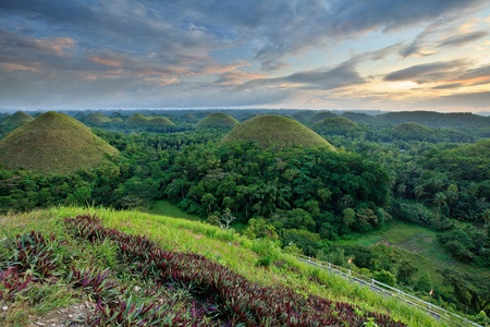 Chocolate Hills in Carmen, Bohol, Philippines