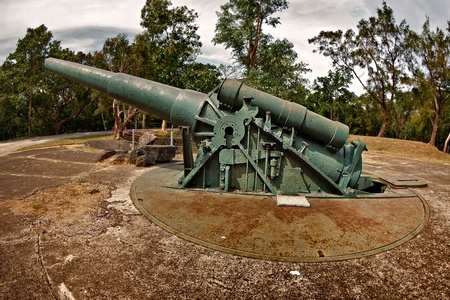 Large World War II Battery Gun on Corregidor Island, Philippines