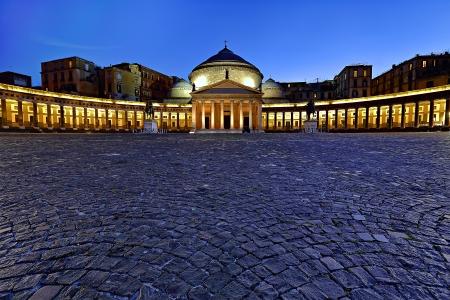 naples: Piazza del Pleiscito in Naples, Italy Editorial