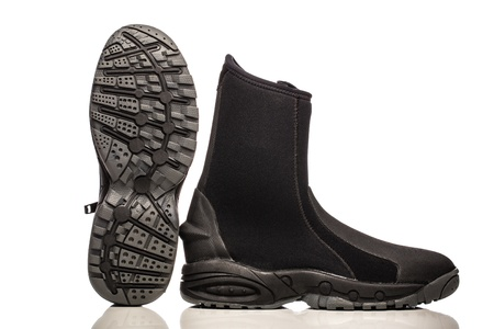 Black scuba or snorkel wet boots