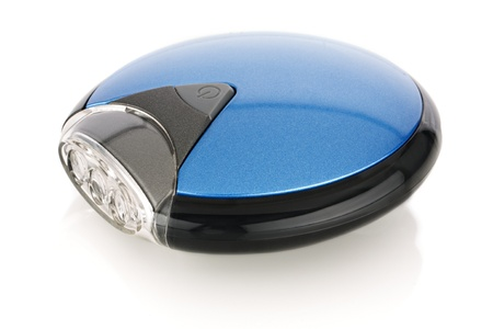 torchlight: Blue round LED flashlight