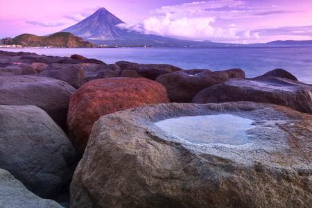 Mt  Mayon volcano in Albany, Philippines