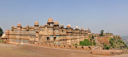 pradesh: Panorama of Gwalior fort, Madhya Pradesh, India. Stock Photo