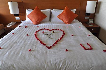 Kota Kinabalu, Borneo, Malaysia – April 27, 2010 – Honeymoon suite.