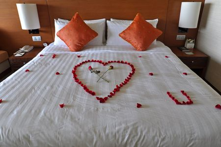 Kota Kinabalu, Borneo, Malaysia – April 27, 2010 – Honeymoon suite. Stock Photo - 7537198