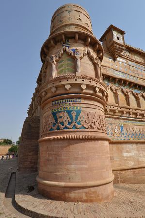 Column of Gwalior fort, Madhya Pradesh, India. Stock Photo - 7610758