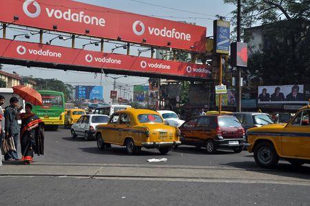 Kolkata, West Bengal, India - 27 October, 2009: Cars stop in heavy traffic jam on busy street in Kolkata on October 27, 2009. Heavy traffic in Kolkata cause serious problem for all Kolkata citizens.
